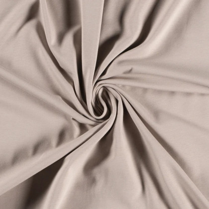 Tissu jersey Bio coloris beige -  GOTS & Oeko tex