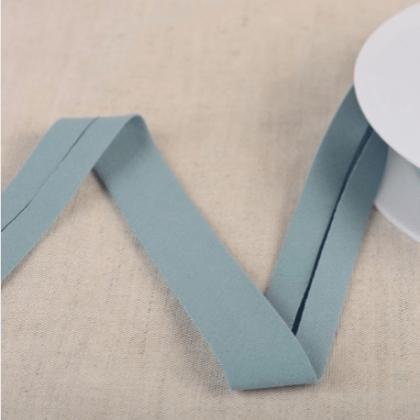 Biais Bio replié 20 mm coton uni vieux bleu lavande - Gots & oeko tex