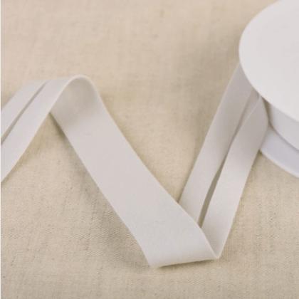 Biais Bio replié 20 mm coton uni vieux gris clair - Gots & oeko tex