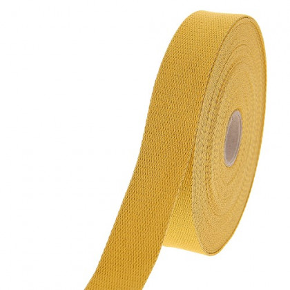 Sangle Lurex moutarde 30mm pour sac