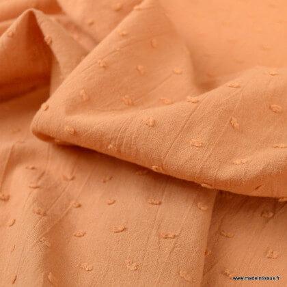 Tissu plumetis voile de coton Cassonade - oeko tex