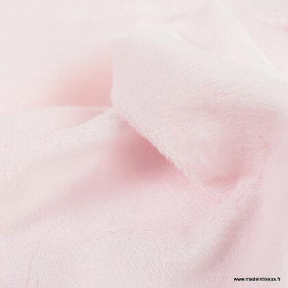 Tissu minky Ras ultra doux Rose - oeko tex