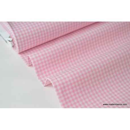 Popeline coton vichy3085 2.7mm rose04 100%coton 145cm 114gr/m²