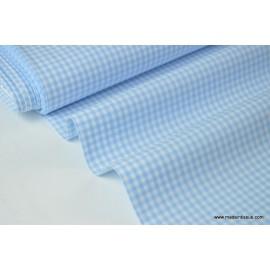 Tissu vichy petits carreaux 100%coton bleu et blanc .x1m
