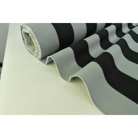 BACHE RAYEE coloris GRIS/NOIR 150cm 50%polyester 50%coton TEFLON