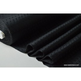 Tissu jacquard dessin noir ton sur ton .x1m