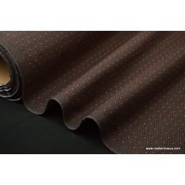 Popeline 100% coton dessin ALVEN NOIR TAUPE 160cm 110gr/m²