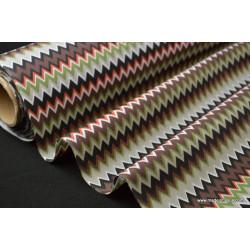 Tissu popeline coton imprimé EDALI zig zag .x1m