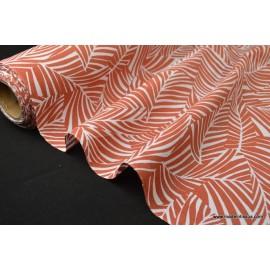 Tissu popeline coton imprimé feuilles CYCA2000 x50cm