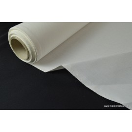 Indeformable thermocollant 100% coton blanc 90cm 180gr/m²