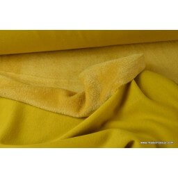 Tissu weat doudou moutarde