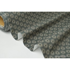 tissu popeline coton imprimé ZAZEN x50cm