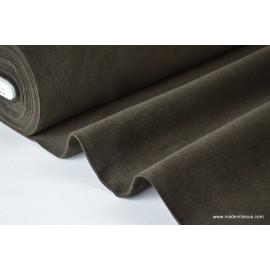 Tissu velours côtelé coton marron chocolat .x1m