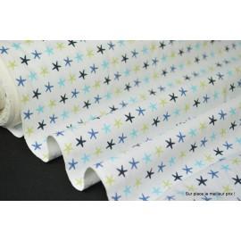 Tissu 100% coton dessin luidy turquoise et anis 160cm 110gr/m²