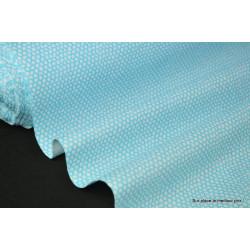 Tissu 100% coton dessin squama turquoise 160cm 110gr/m² . x1m