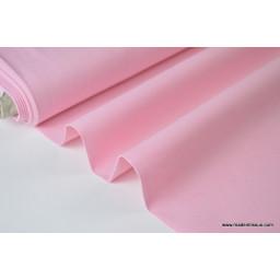 tissu Popeline coton oeko tex chambray rose