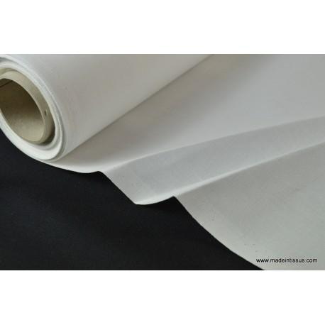 Indeformable 100% coton blanc x50cm