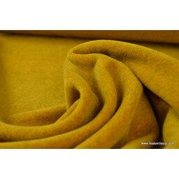 Tissu polaire moutarde Madein France