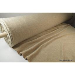 Tissu polaire Ecru Dune Made in France