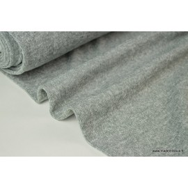 Maille tricot gris 100%pes 150cm 210gr/m²
