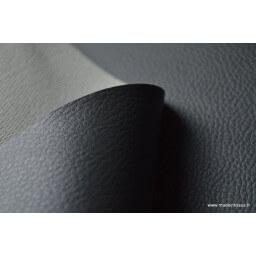 Faux cuirs ameublement rigide gris ardoise x50cm