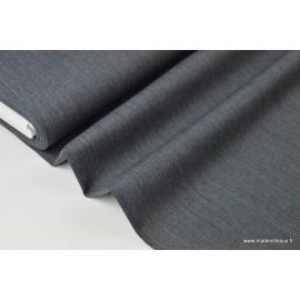 Gabardine de laine coloris gris foncé x50cm
