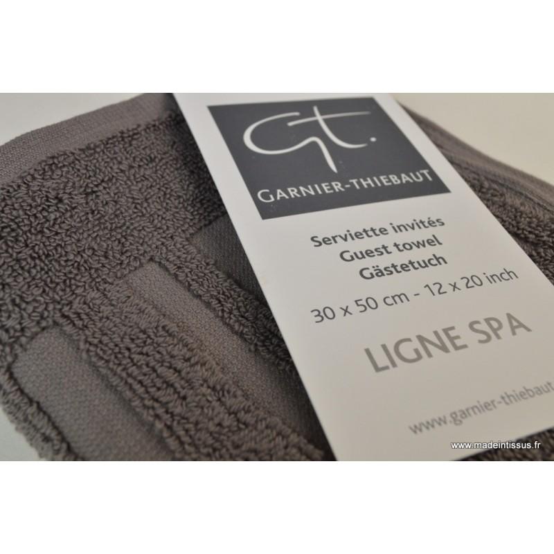 serviette ponge essuie mains ardoise 30x50 made in tissus. Black Bedroom Furniture Sets. Home Design Ideas