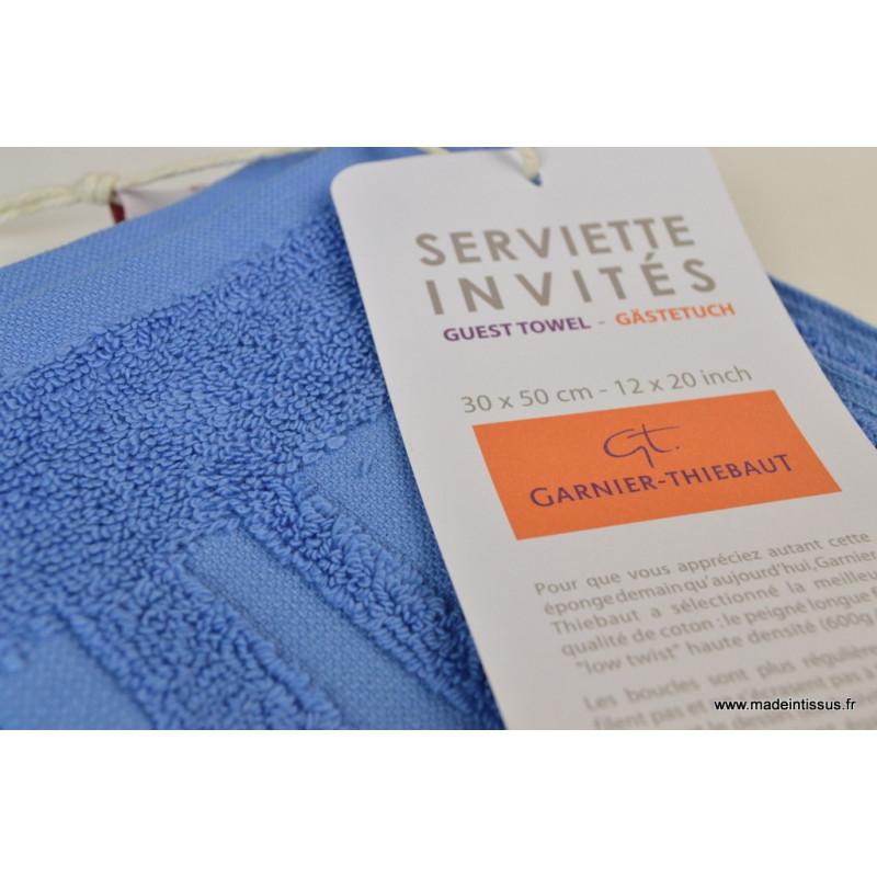serviette ponge essuie mains lagon 30x50 made in tissus. Black Bedroom Furniture Sets. Home Design Ideas