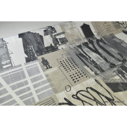 Toile dessin newyork ENDUIT RAIDE ACRYLIQUE 2 COUCHES 50%PES 50%CO 140cm