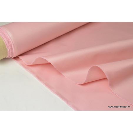 Tissu DOUBLURE taffetas chintz coloris ROSE .x 1m