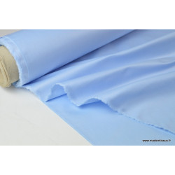 Tissu DOUBLURE taffetas chintz coloris bleu ciel .x 1m