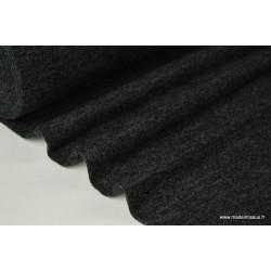 Tissu Maille tricoté noir polyester elasthanne  .x1m