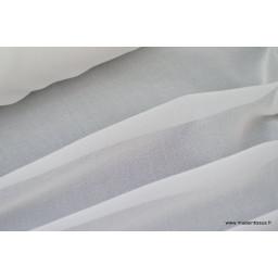 Tissu Mousseline coloris blanc x50cm