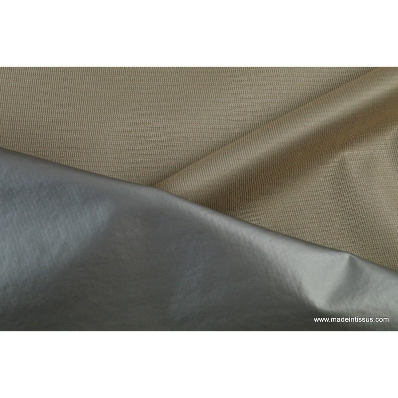 Tissu isolant phonique et thermique beige made in tissus - Tissu isolant thermique ...