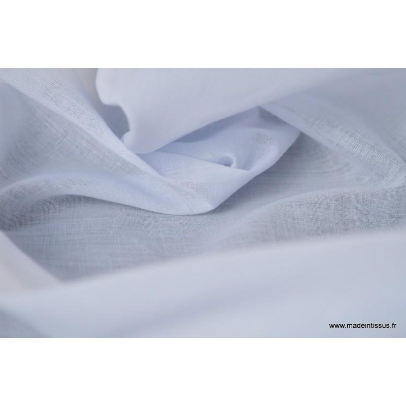 tissu voile de coton blanc pour confection. Black Bedroom Furniture Sets. Home Design Ideas