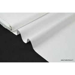 Popeline coton uni blanc .x1m