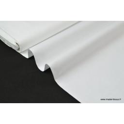 Tissu Popeline coton oeko tex uni blanc au mètre