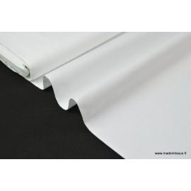 Popeline coton uni blanc x50cm