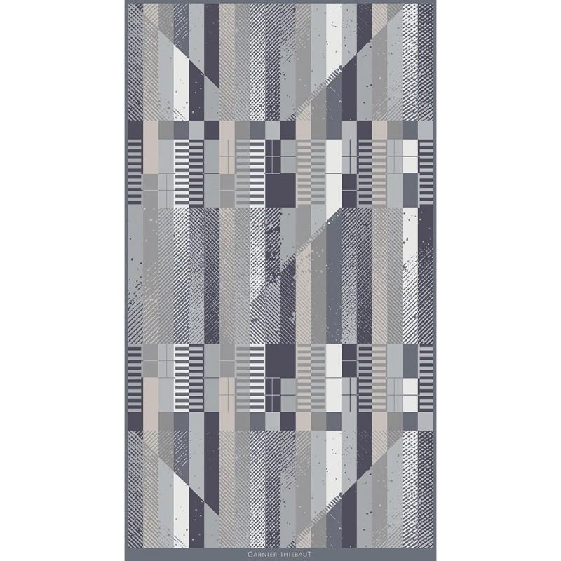 drap de plage 100 coton vibration gris. Black Bedroom Furniture Sets. Home Design Ideas