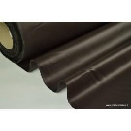 Tissu polyester déperlant chocolat pour parapluie .