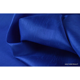 Satin doupion duchesse polyester bleu royal x50cm