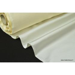 Satin doupion duchesse polyester ivoire .