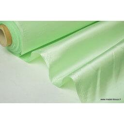 Satin doupion duchesse polyester vert nil x50cm