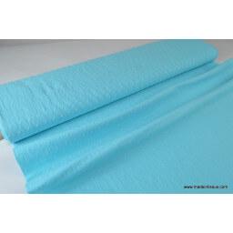 Tissu coton plumetis fantaisie turquoise x50cm