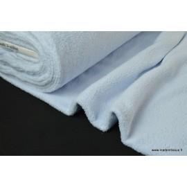 Tissu doudou double face bleu ciel x50cm