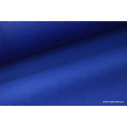 Tissu gabardine imperméable polyester coton bleu x50cm