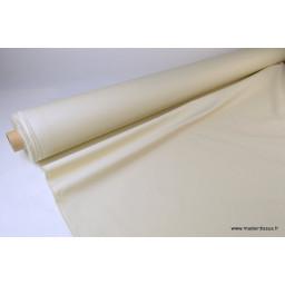 Tissu gabardine imperméable polyester coton écru x50cm