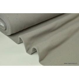 Jersey molleton fantaisie cosy gris x50cm