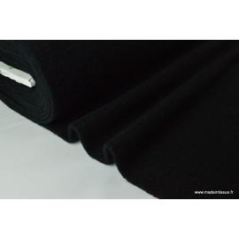 Lainage boucle noir laine et alpaga x50cm