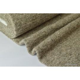 Lainage boucle Beige laine et alpaga x50cm